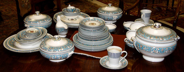 A Wedgwood 'Florentine' pattern part dinner service late 20th Century