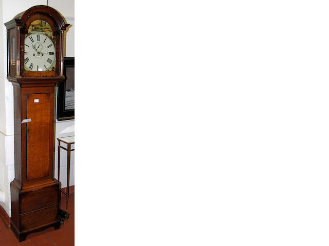 An oak longcase clock  19th Century