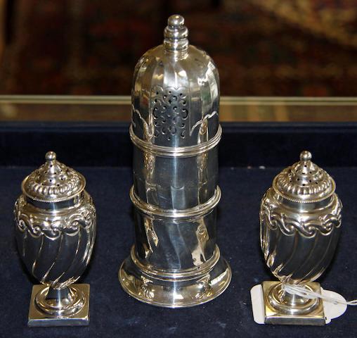 A Victorian silver sugar caster