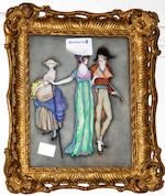* Harbour, Circa 1920 'Her ladies Toilette'  'Her ladies Toilette' signed, watercolour and gouache and three others, each 19 x 14cm. (4)