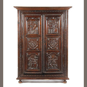 An 18th century and later oak armoire French provincial