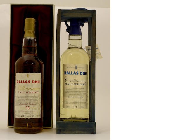 Dallas Dhu Millennium-25 year old-1974<BR /> Dallas Dhu Centenary