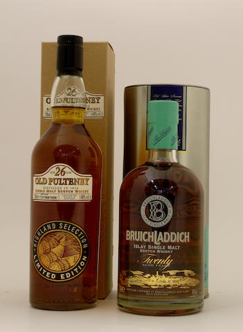 Old Pultney-26 year old-1974<BR /> Bruichladdich-20 year old