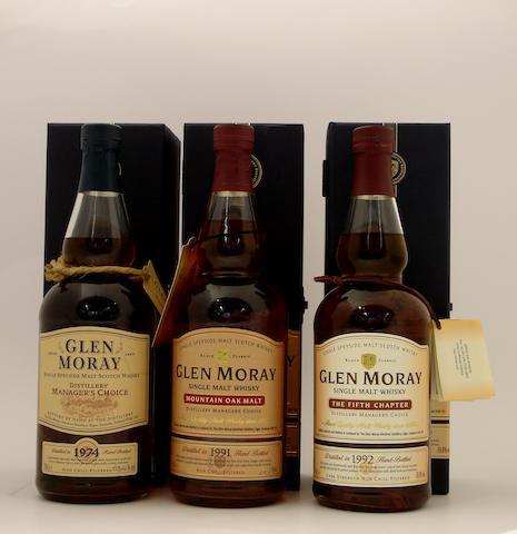 Glen Moray-1974  Glen Moray-1991  Glen Moray-1992