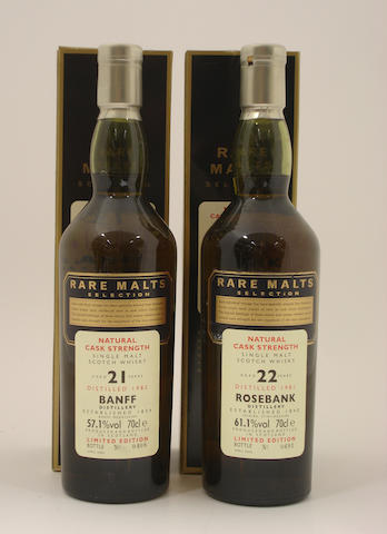 Banff-21 year old-1982<BR /> Rosebank-22 year old-1981