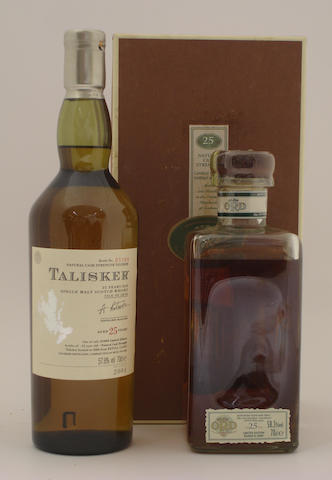 Talisker-25 year old  Glen Ord-25 year old