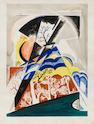 Natalia Sergeevna Goncharova (Russian, 1881-1962) Composition aux arbres