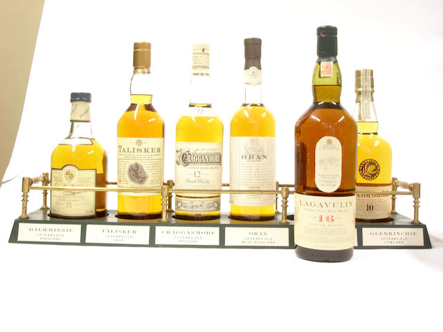 The Classic Malts<BR /> Dalwhinnie-15 year old<BR /> Talisker-10 year old<BR /> Cragganmore-12 year old<BR /> Oban-14 year old<BR /> Lagavulin-16 year old<BR /> Glenkinchie-10 year old