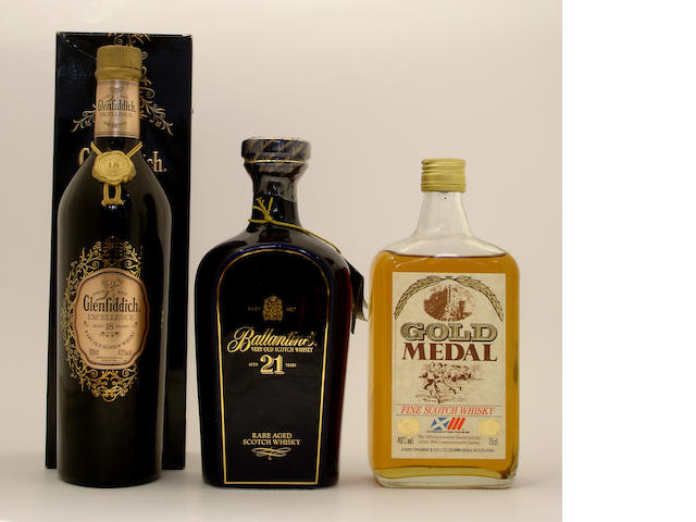Glenfiddich Excellence-18 year old<BR /> Ballantine's-21 year old<BR /> Gold Medal