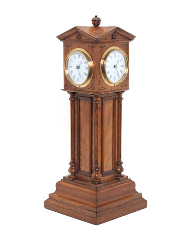A French Four face table clock,