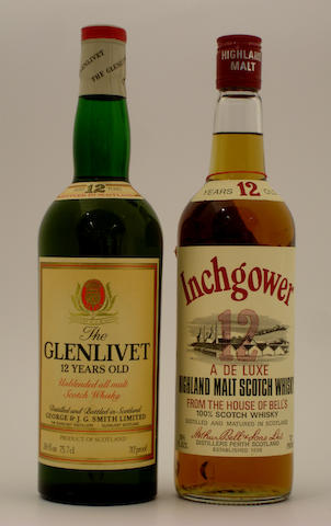 The Glenlivet-12 year old<BR /> Inchgower-12 year old