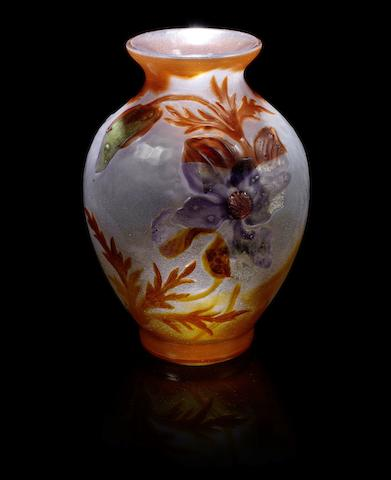 Galle Marquetry Vase