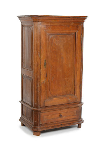 An oak armoire, French 18th century