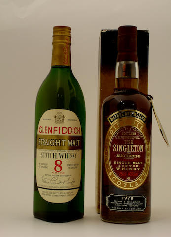 Glenfiddich Straight Malt-8 year old  The Singleton of Auchroisk-1978