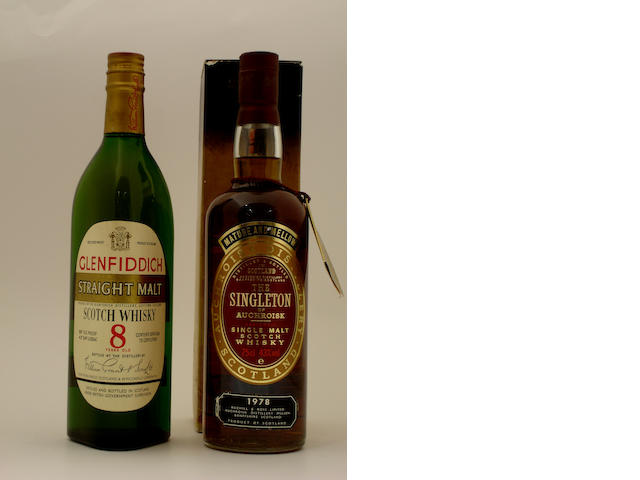 Glenfiddich Straight Malt-8 year old<BR /> The Singleton of Auchroisk-1978