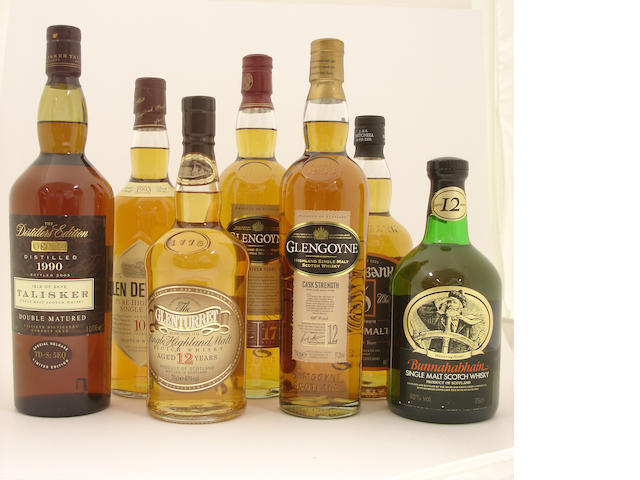 Talisker-1990<BR /> Glen Deveron-10 year old-1993<BR /> The Glenturret-12 year old<BR /> Glengoyne-17 year old<BR /> Glengoyne-12 year old<BR /> Springbank-12 year old<BR /> Bunnahabhain-12 year old