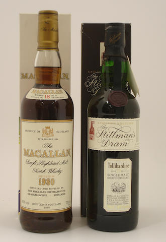 The Macallan-18 year old-1980<BR /> Tullibardine-27 year old