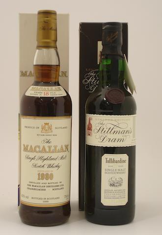 The Macallan-18 year old-1980<BR /> Tullibardine-27 year old