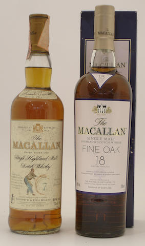 The Macallan-7 year old<BR /> The Macallan Fine Oak-18 year old