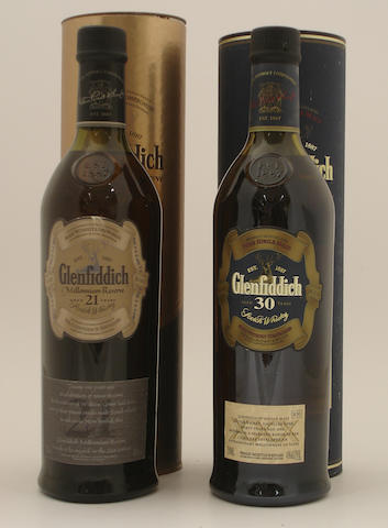 Glenfiddich Millennium Reserve-21 year old<BR /> Glenfiddich-30 year old