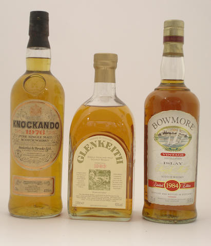 Knockando-1976  Glen Keith-Pre 1983  Bowmore-1984