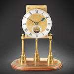 A rare late 19th century table regulator with detent escapement  The movement stamped 46060 FMG