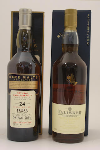 Brora-24 year old-1977<BR /> Talisker 175th Anniversary