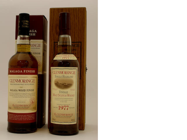 Glenmorangie Malaga Wood Finish-25 year old<BR /> Glenmorangie Vintage-1977