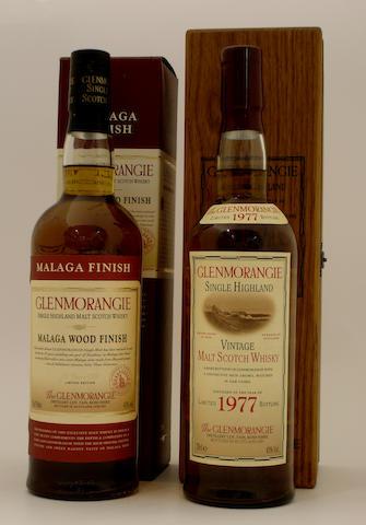 Glenmorangie Malaga Wood Finish-25 year old<BR /> Glenmorangie Vintage-1977