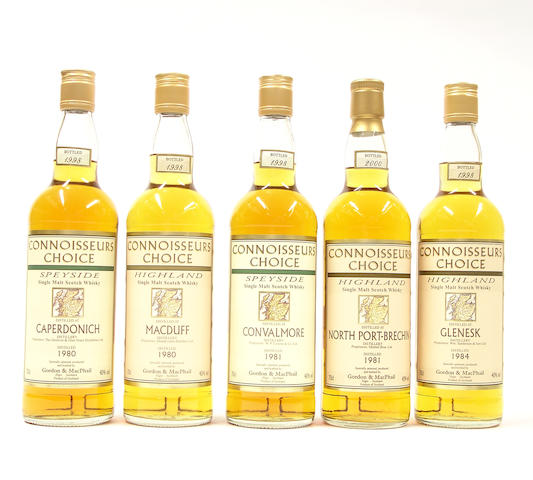 Caperdonich-1980<BR /> MacDuff-1980<BR /> Convalmore-1998<BR /> Nort Port-Brechin-1981<BR /> Glen Esk-1984