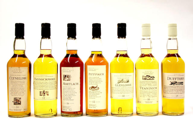Clynelish-14 year old<BR /> Mannochmore-12 year old<BR /> Mortlach-16 year old<BR /> Pittyvaich-12 year old<BR /> Glenlossie-10 year old<BR /> Teaninich-10 year old<BR /> Dufftown-15 year old