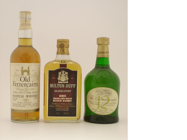 Fettercairn<BR /> Milton-Duff Glenlivet-12 year old<BR /> The Glendronach-12 year old