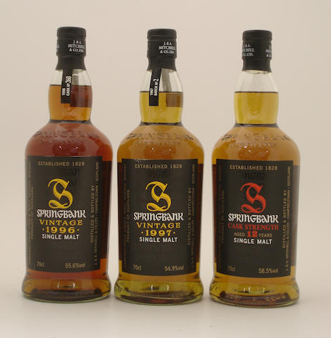 Springbank-Vintage 1996  Springbank-Vintage 1997  Springbank-12 year old