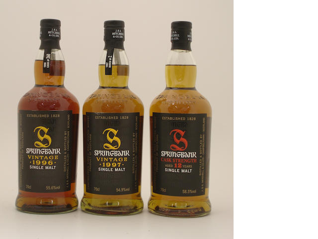 Springbank-Vintage 1996<BR /> Springbank-Vintage 1997<BR /> Springbank-12 year old