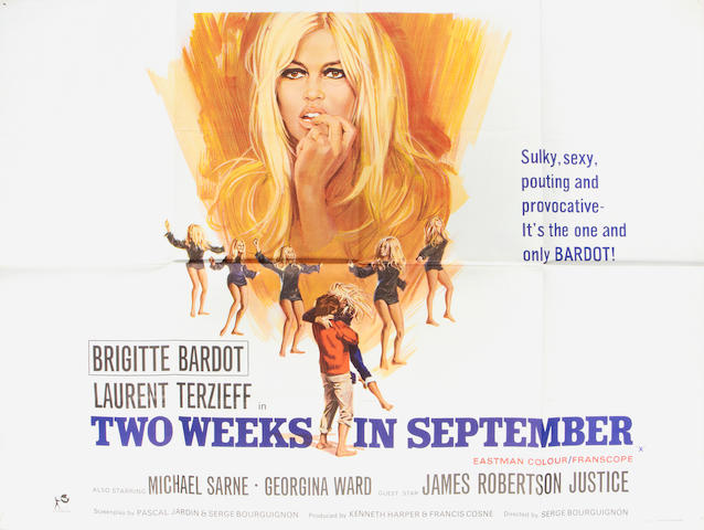 Brigitte Bardot: Three British quad posters,  titles including:3