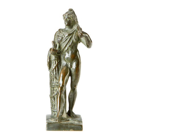 An 17th century Italian bronze figure of Hercules