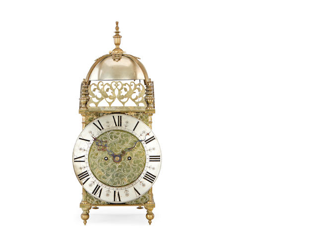 A Victorian giant double fusee lantern clock