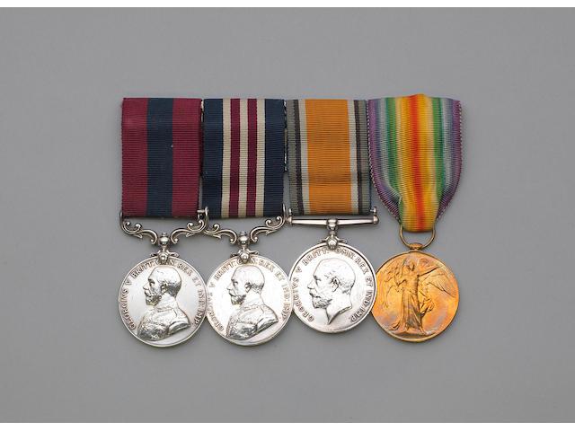 A Great War D.C.M. and M.M. group of four to Sergeant G.Bartlett, Devon Regiment,