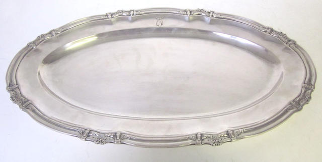 An Austro-Hungarian  silver meat platter Vienna, post-1872