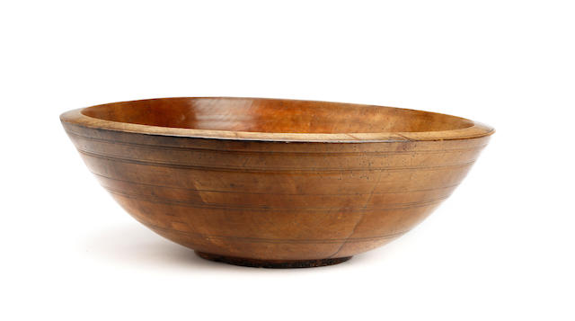 18th century walnut? turned bowl