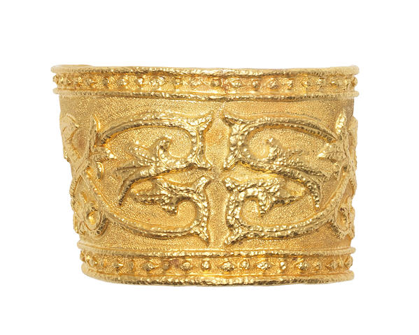 A cuff bangle, by Lalaounis (illustrated above)