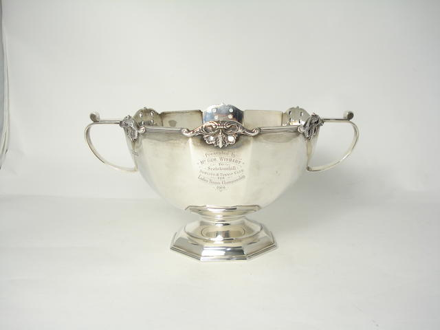 A silver tennis trophy by Martin Hall & Co Ltd, Sheffield 1913