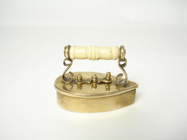 A Victorian silver gilt tape holder  by Arthur Alabaster, London circa 1885