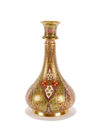 A Coalport vase, circa 1870-75
