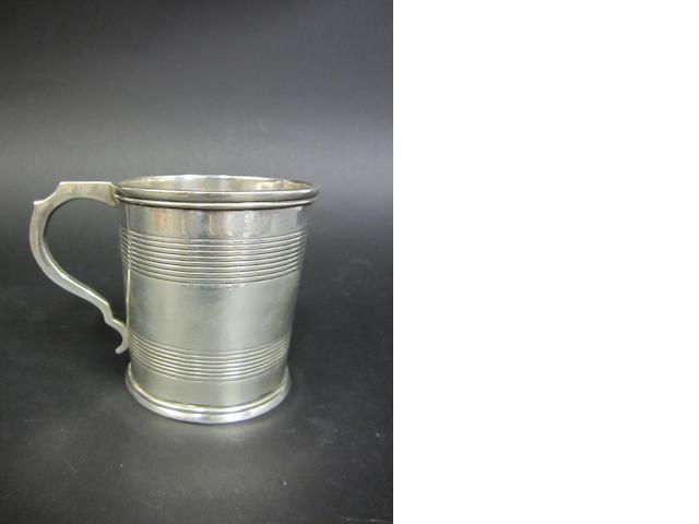 A Indian silver mug by Pittar and Co, Calcutta, cica 1840