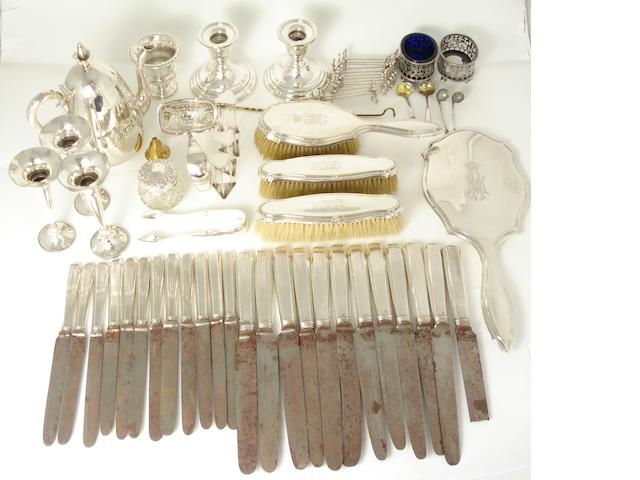 A collection of Dutch and other silver  various dates and makers