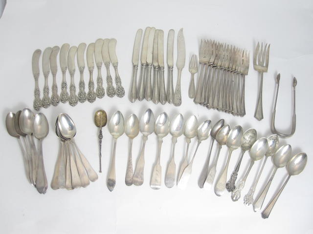 A collection of flatware various makers and dates, American and British  (Qty)