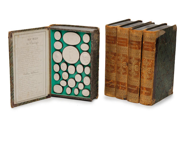 "A set of five bookform boxed sets of ""Liberotti Impronte"" - Italy early 19th century"