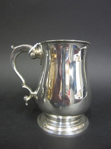 A George III silver baluster mug by Thomas Wallis I, London 1772