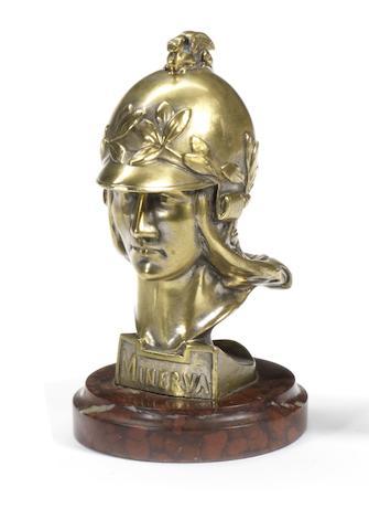 A Minerva mascot, by Pierre de Soete, Belgian, 1920s,